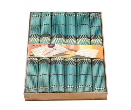 Set 6 podmetača Bamboo Blue 35x40 cm