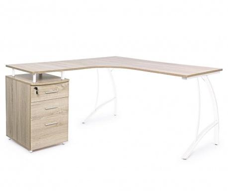 Rohový psací stůl Kavita