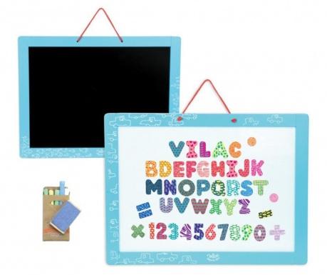 Tabule s magnetickými písmeny a číslicemi Learn and Fun