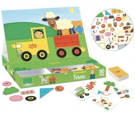 Kreativní hra s magnety, 110 dílů Farmer