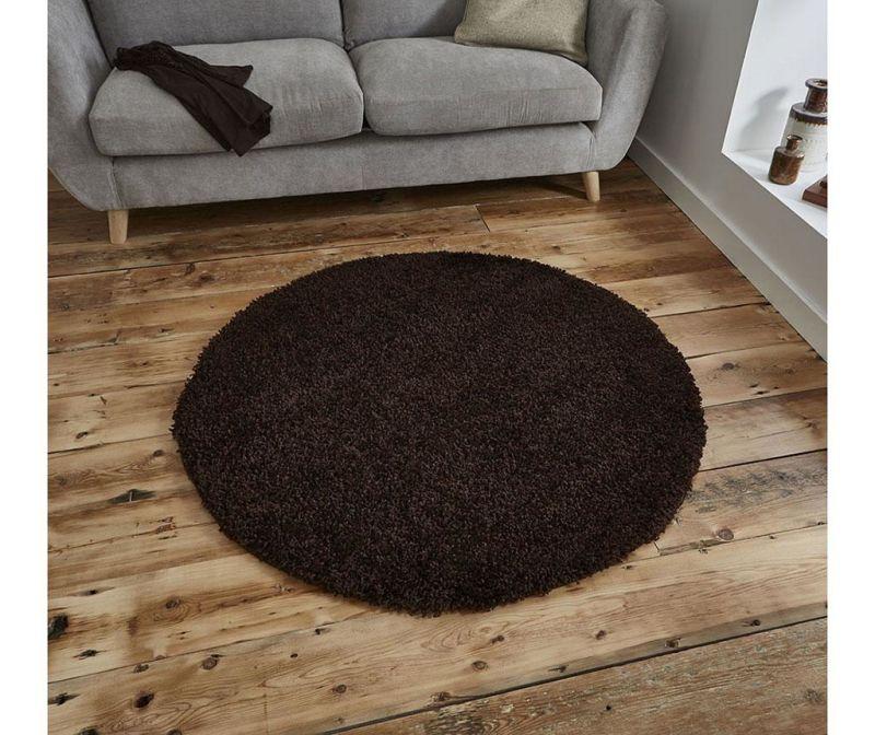 Covor Vista Circle Brown 133 cm