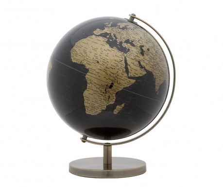 Dekoracija World Globe Black Gold