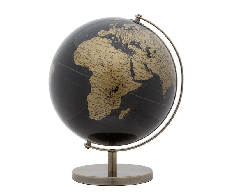 Ukras World Globe Black Gold