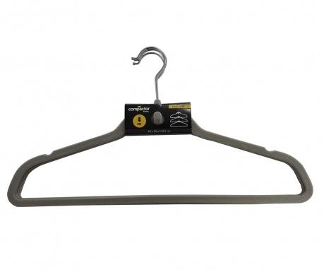 Set 4 vješalice Velvet Hanger