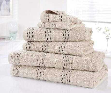Sada 6 ručníků Spa Taupe