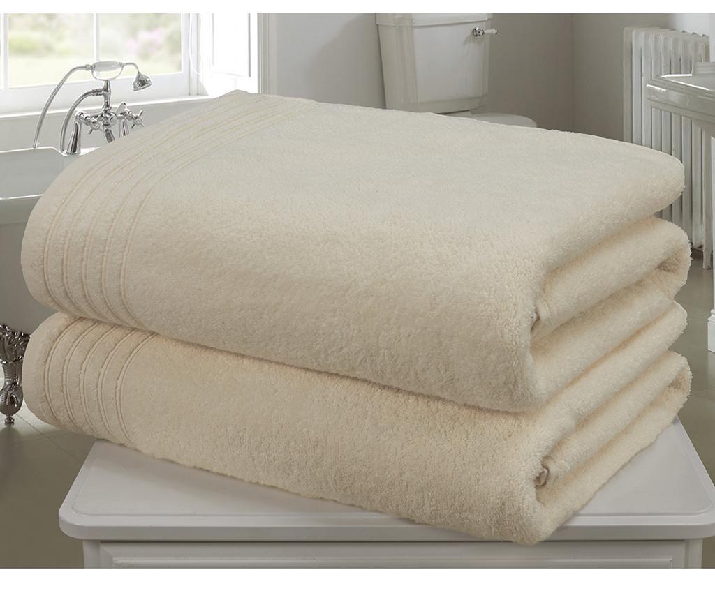 Set 2 kupaonska ručnika So Soft  Cream 100x140 cm
