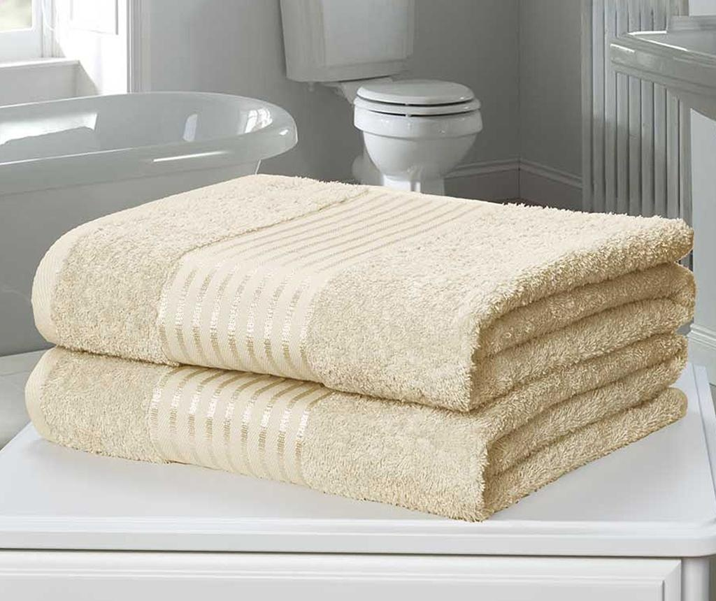Set 2 kupaonska ručnika Windsor Cream 90x140 cm