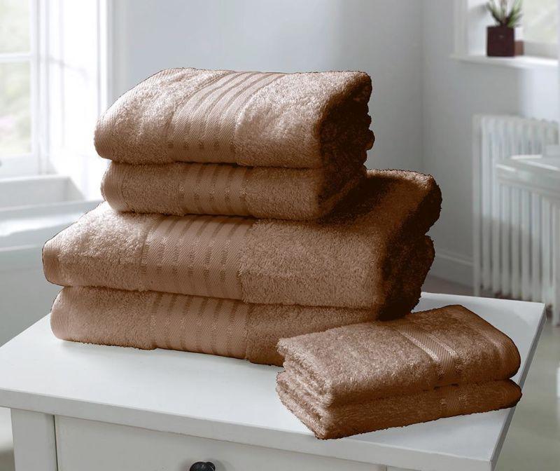 Set 6 kupaonskih ručnika Windsor Chocolate