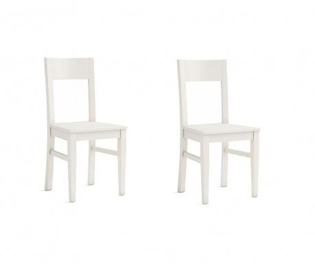 Комплект 2 стола Fiona White