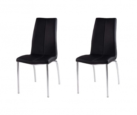 Set 2 scaune Olga Black