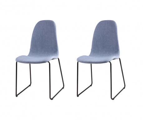 Set 2 scaune Helena Light Blue