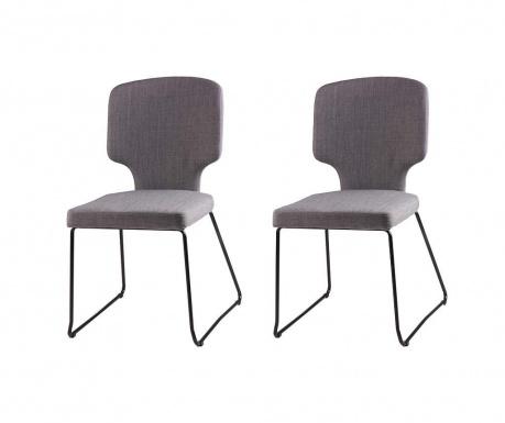 Set 2 scaune Dana Light Grey