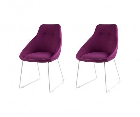 Set 2 scaune Alba Fuchsia