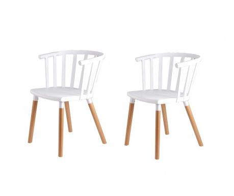 Set 2 scaune Jenna White