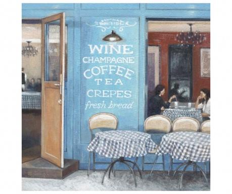 Wine Coffee Tea Kép 33x33 cm
