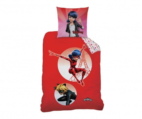 Set de pat Single Ranforce Miraculous Ladybug Marinette