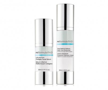 Set serum i krema za lice Lift & Firm Collagen