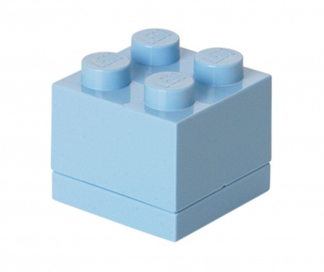 Кутия с капак Lego Mini Square Light Blue