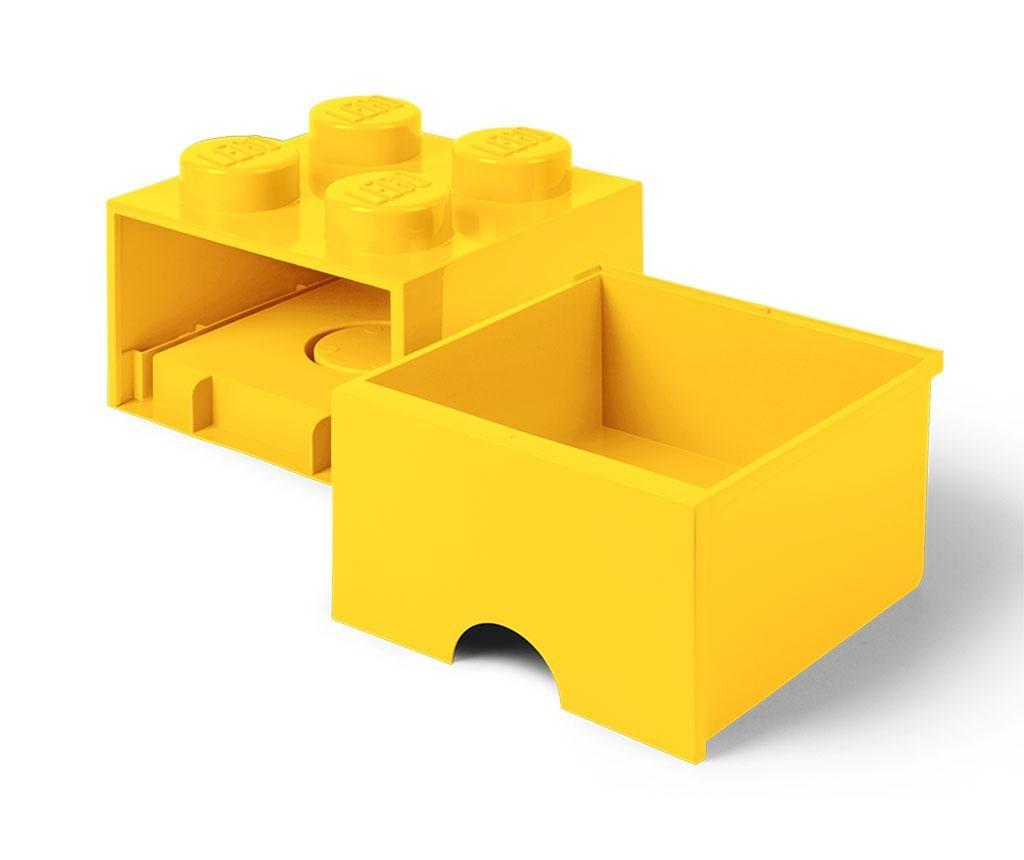 Cutie pentru depozitare Lego Square One Yellow