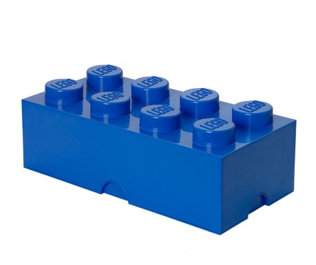 Кутия с капак Lego Rectangular Extra Blue