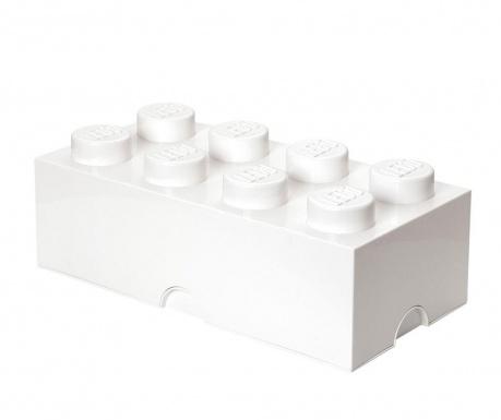 Kutija za pohranu s poklopcem Lego Rectangular Extra White