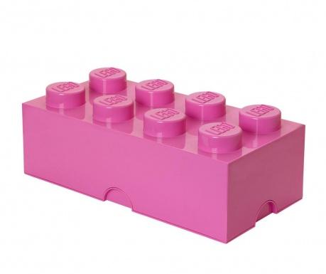Kutija za pohranu s poklopcem Lego Rectangular Extra Purple