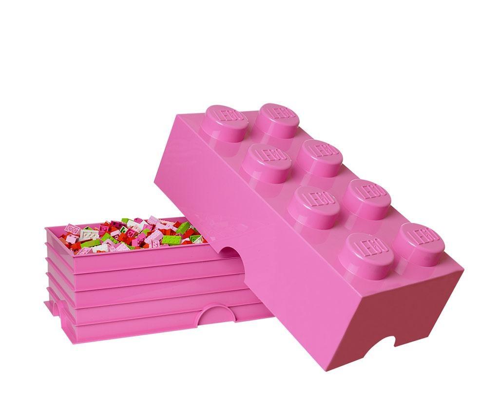 Cutie cu capac Lego Rectangular Extra Bright Pink