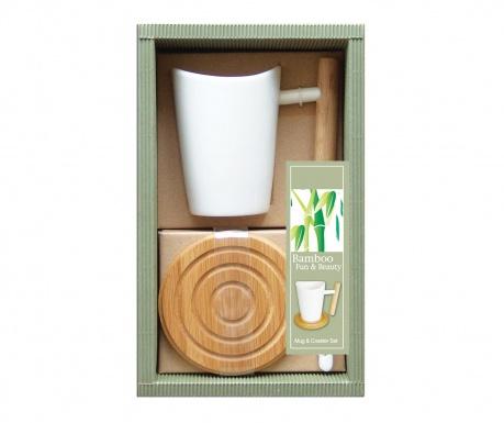 Set šalica i podmetač Bamboosa