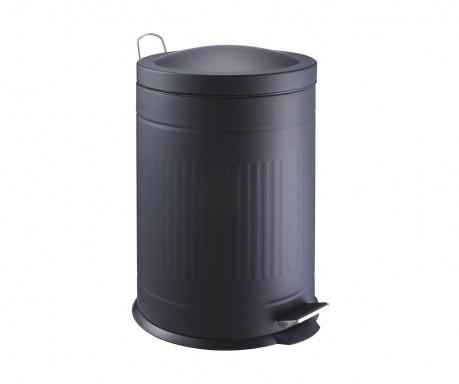 Кош за отпадъци с капак и педал Step Black 20 L