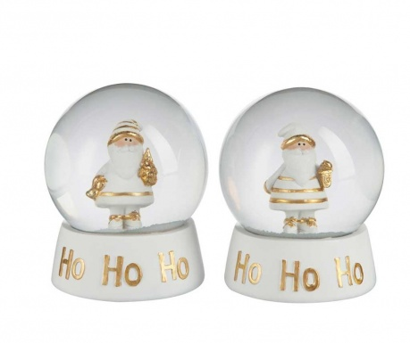 Комплект 2 декорации Snow  Globe Santa Claus