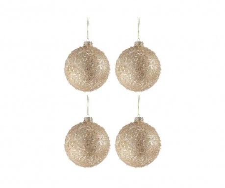 Комплект 4 декоративни топки Glitter Pearls