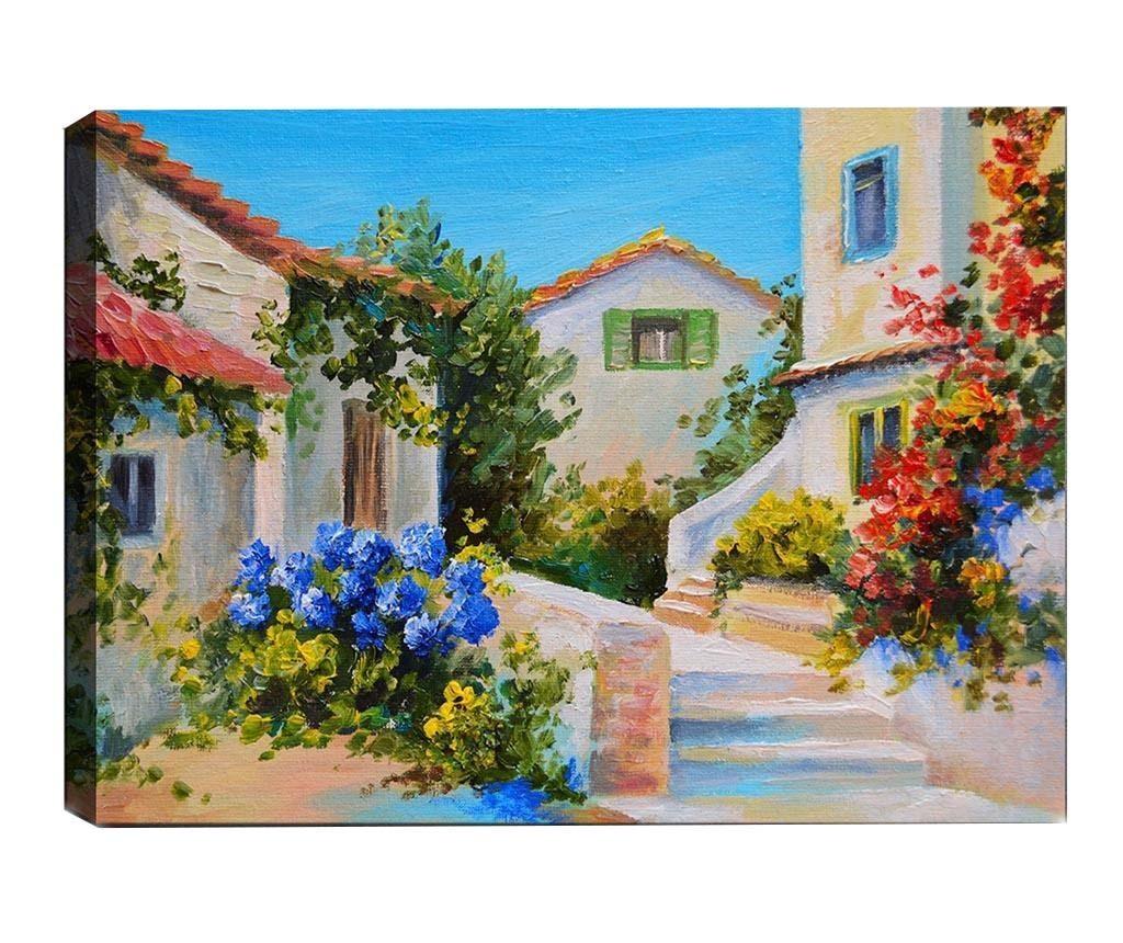 Mediterranean Village 3D Kép 50x70  cm