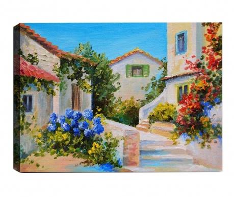 Tablou 3D Mediterranean Village 50x70  cm