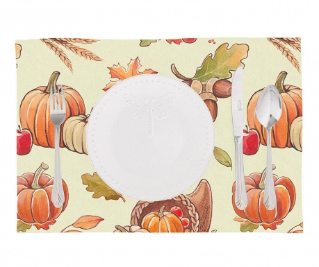 Set 2 pogrinjkov Pumpkin Orange 33x45 cm