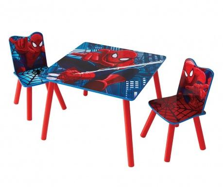 Детски комплект маса и 2 стола Spiderman