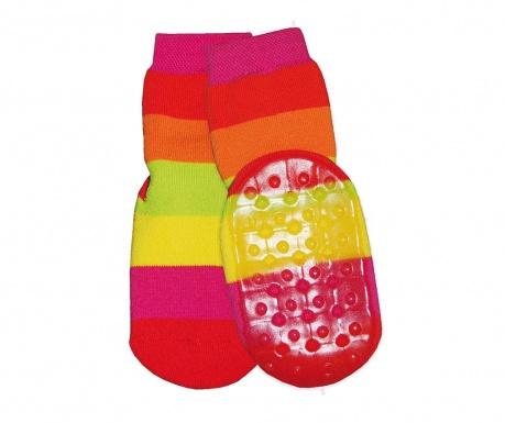Чорапи с нехлъзгаща се подметка Block Ring Coral