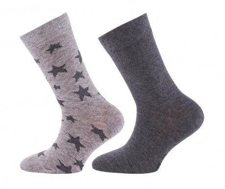 Комплект 2 чифта чорапи Stars Uni Anthracite