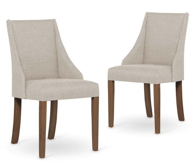 Set 2 scaune Absolu Brown Cream