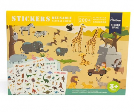 Gra kreatywna  174 elementy Static Animals