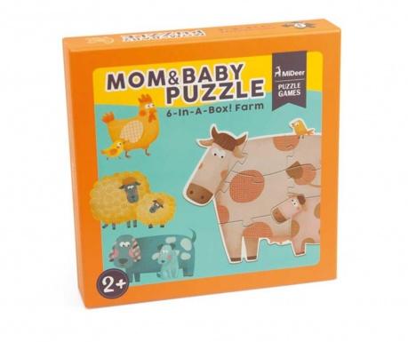 Zestaw 6 puzzli Mom and Baby