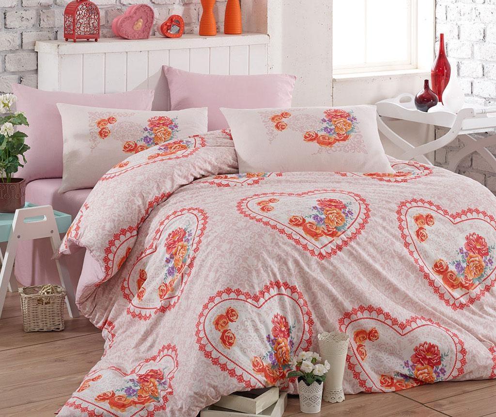 Спално бельо King Ranforce Lovely Pink