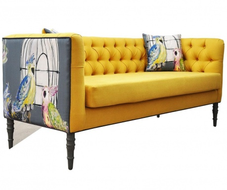 Loveseat Yellow Three Szófa