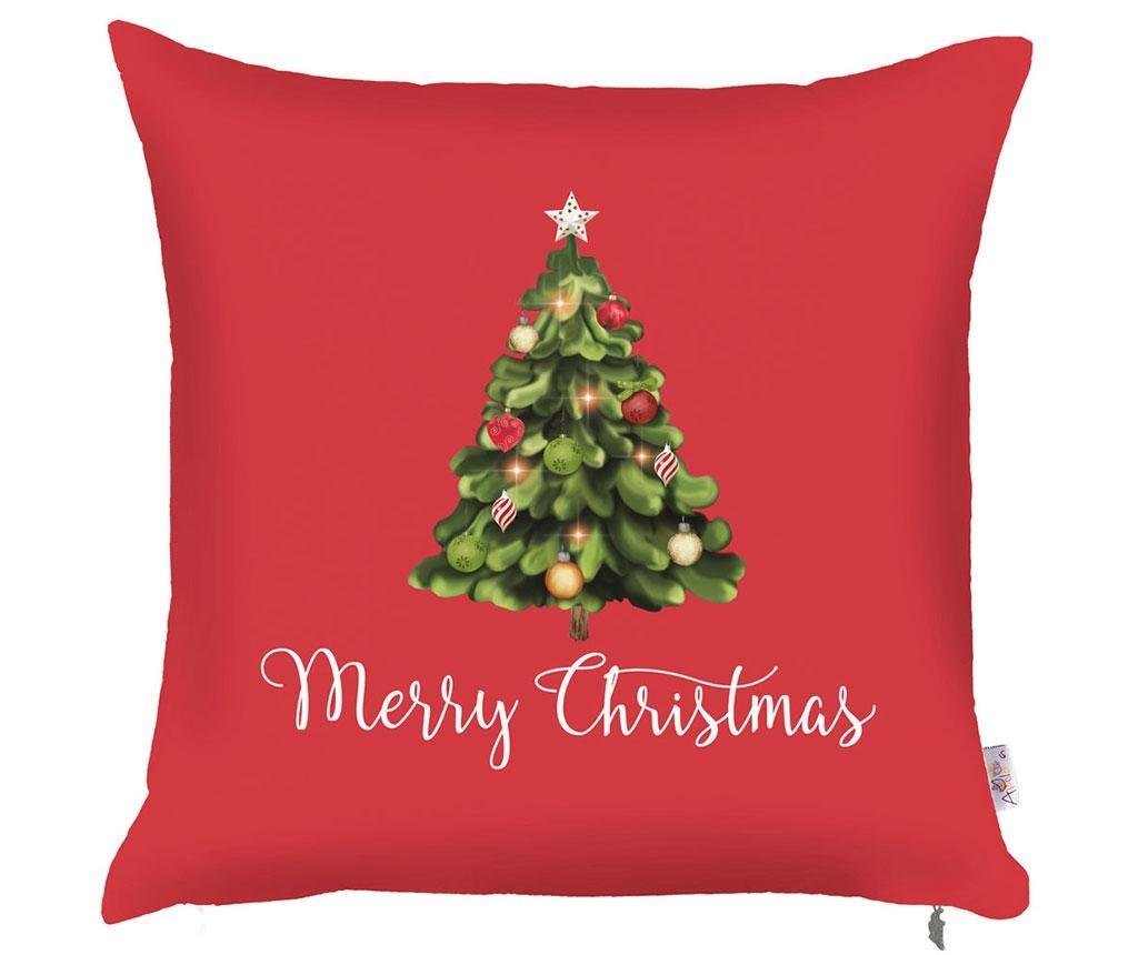 Povlak na polštář Merry Christmas Tree 43x43 cm