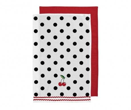 Zestaw 2 ręczników kuchennych Betty 45x70 cm