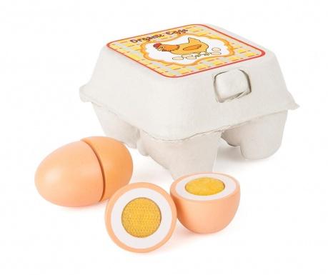 Zestaw 4 jajek zabawkowych z pojemnikiem Starter