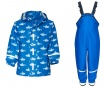 Komplet - otroška vodoodporna jakna in kombinezon Sharks Allover 12-18 mesecev