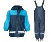 Komplet - otroška vodoodporna jakna in kombinezon Duo Colors Navy Light Blue 9-12 mesecev