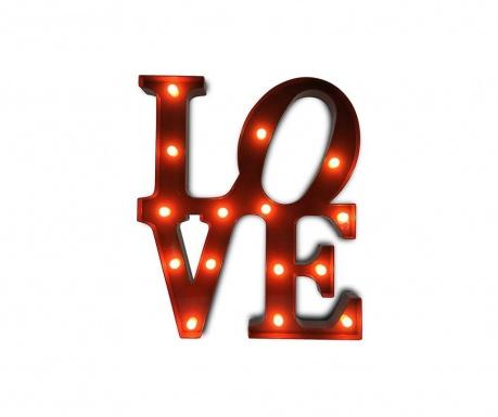 Светеща стенна декорация Love