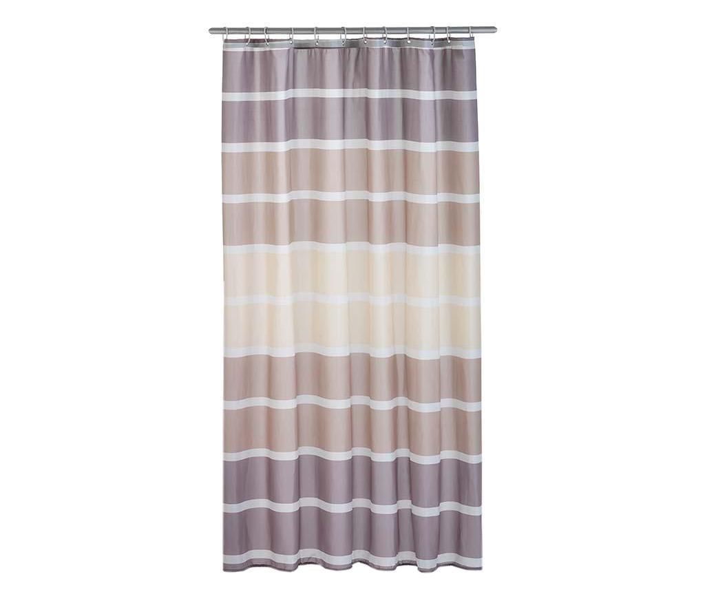 Zavesa za prho Stripes Brown 180x200 cm