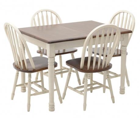 Sada rozkládací stůl a 4 židle Rosetta
